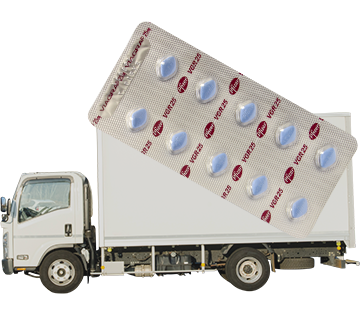 薬を自宅まで配送するトラック