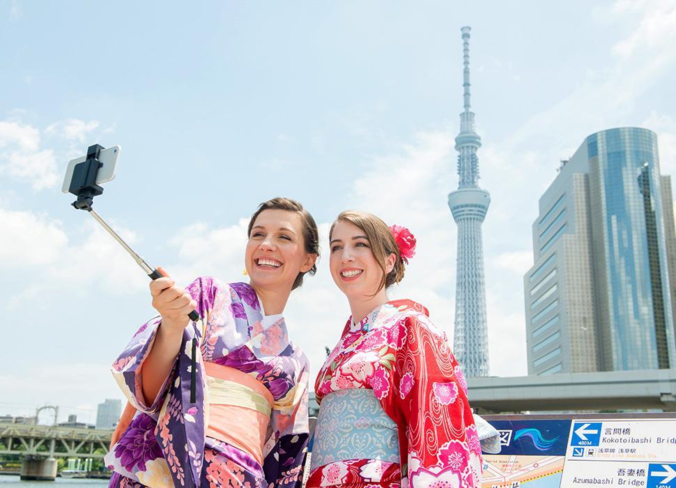 日本を訪れる外国人観光客