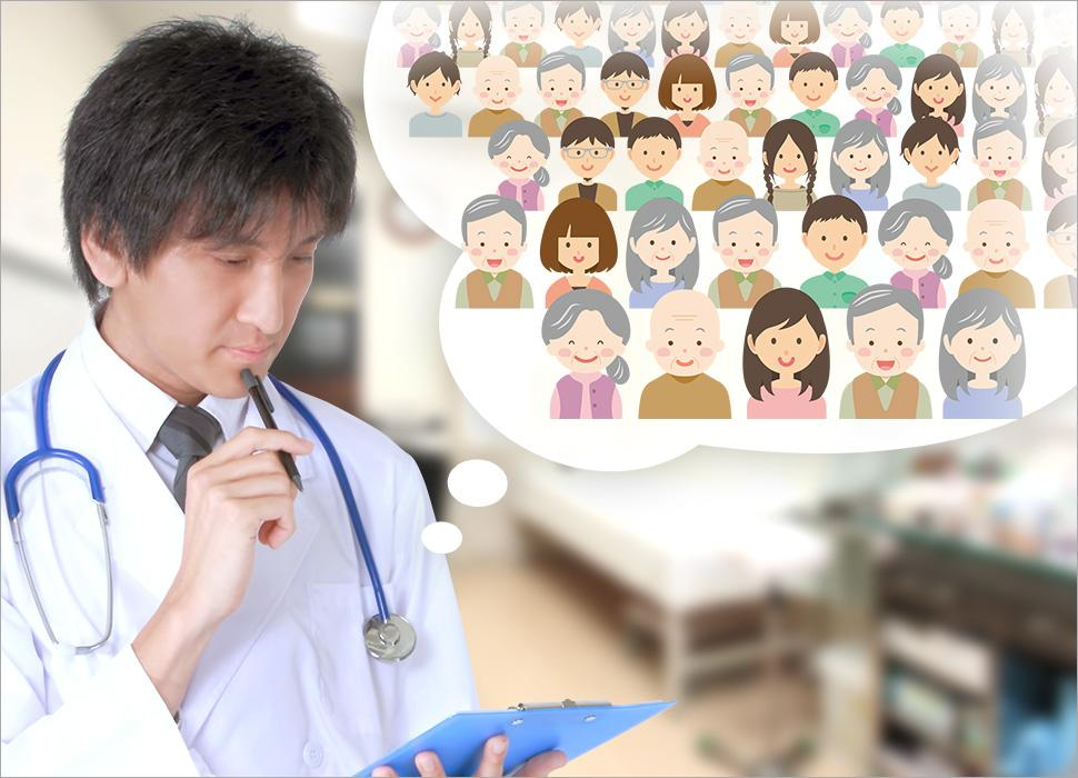 1人で多くの患者を診ており、悩んでいる医師