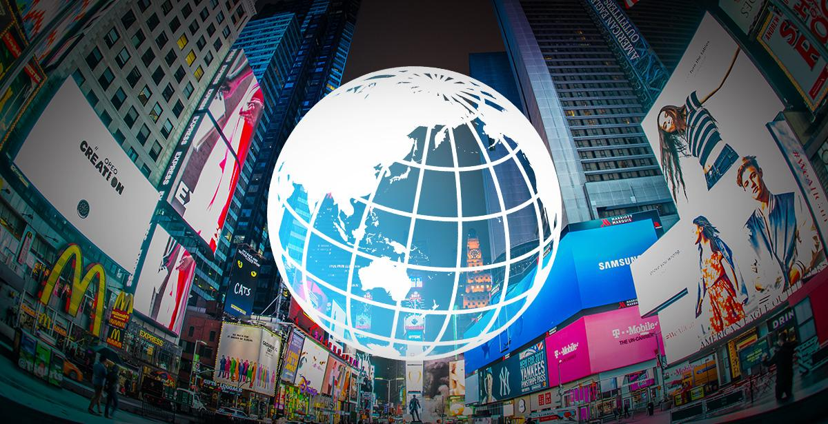 海外都市の繁華街イメージ