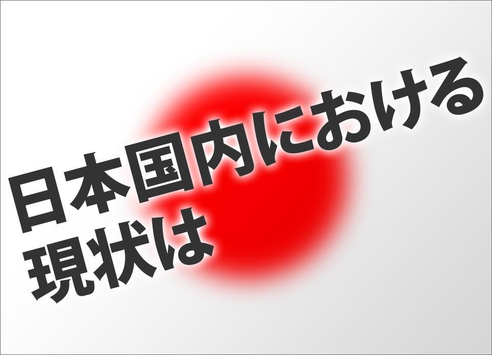 日本国内における現状は